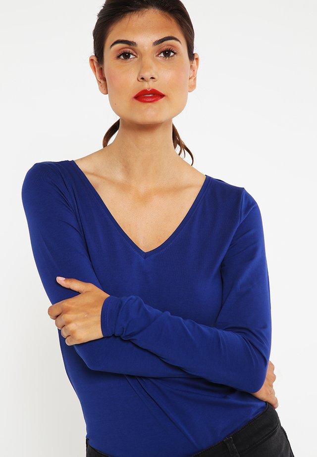 Top sdlouhým rukávem - dark blue