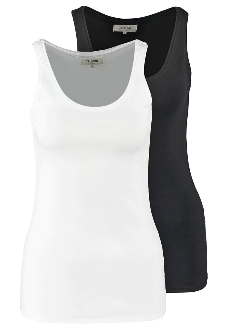 Zalando Essentials - 2 PACK - Top - black/white