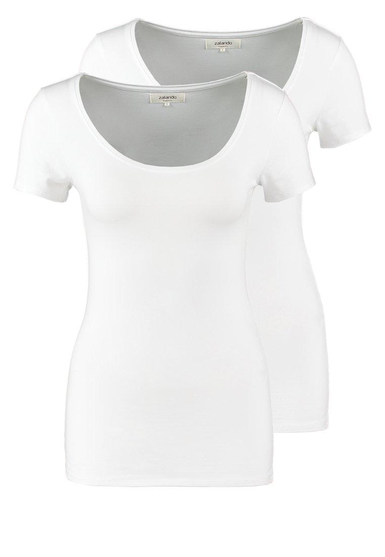 Zalando Essentials - 2 PACK - Basic T-shirt - white