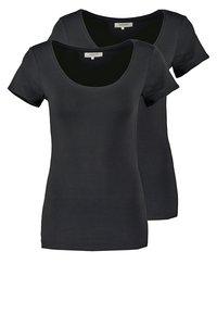 Zalando Essentials - 2 PACK - Basic T-shirt - black/black - 0