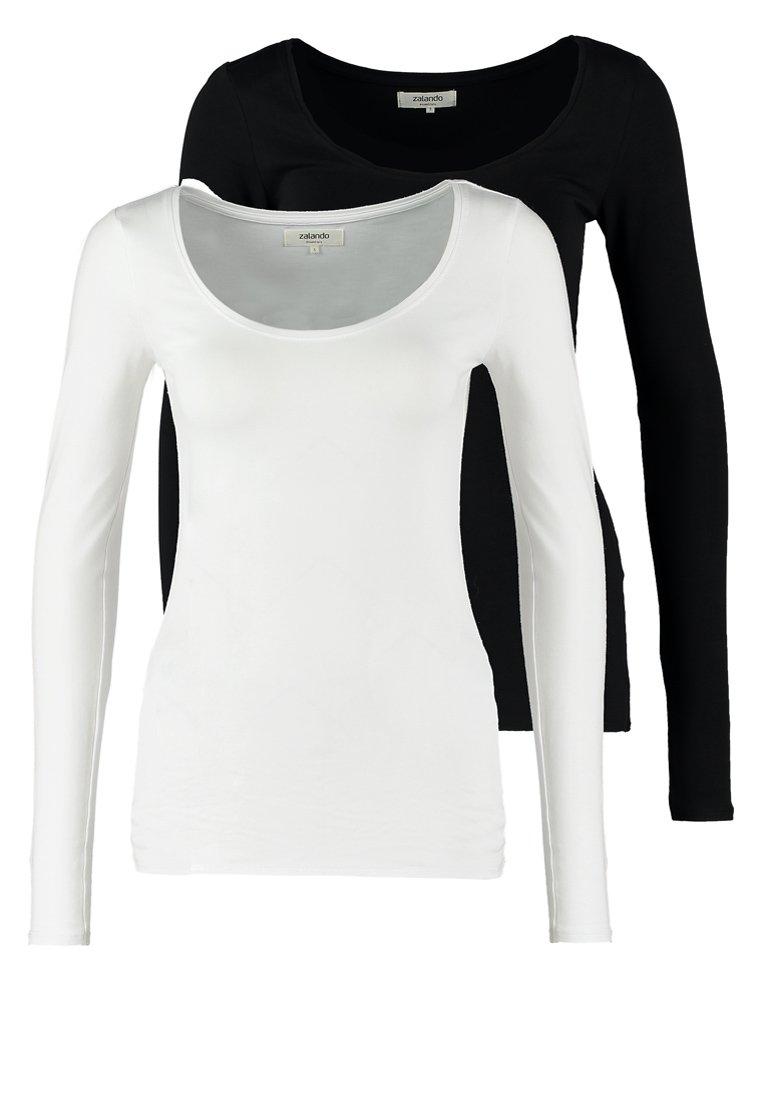 Zalando Essentials 2 PACK - Topper langermet - black/white