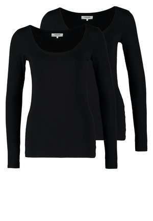 2 PACK - Maglietta a manica lunga - black/black