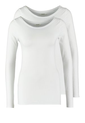 2 PACK - Long sleeved top - white/white