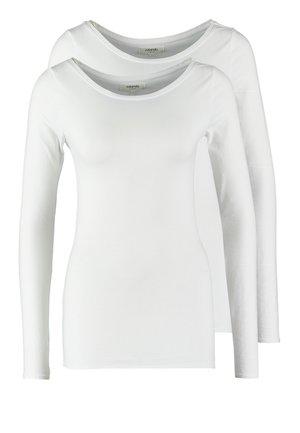 2 PACK - Maglietta a manica lunga - white/white