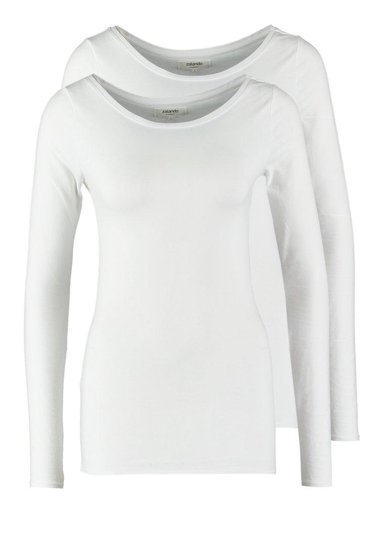Zalando Essentials - 2 PACK - Longsleeve - white/white