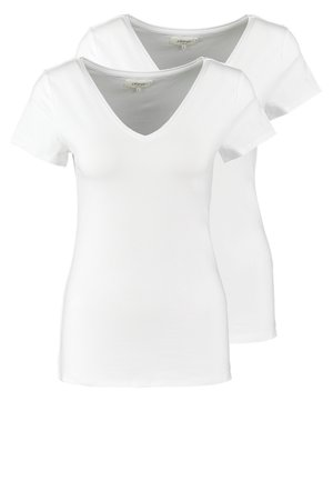 2 PACK - T-shirt basic - white/white