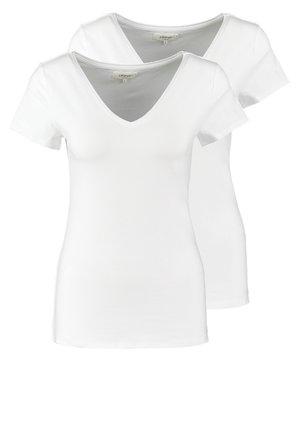 2 PACK - Jednoduché triko - white/white