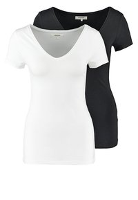 Zalando Essentials - 2 PACK - T-shirts - black/white - 0
