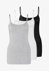 black/white/mottled light grey