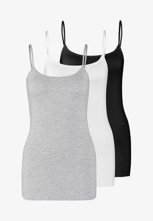 3 PACK - Top - black/white/mottled light grey