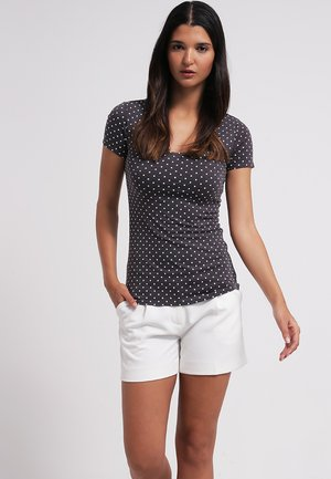 Print T-shirt - dark grey/white