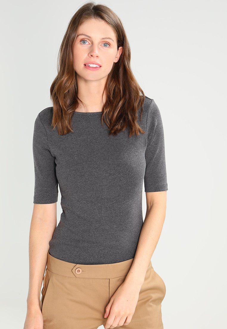Zalando Essentials - Basic T-shirt - dark grey mélange