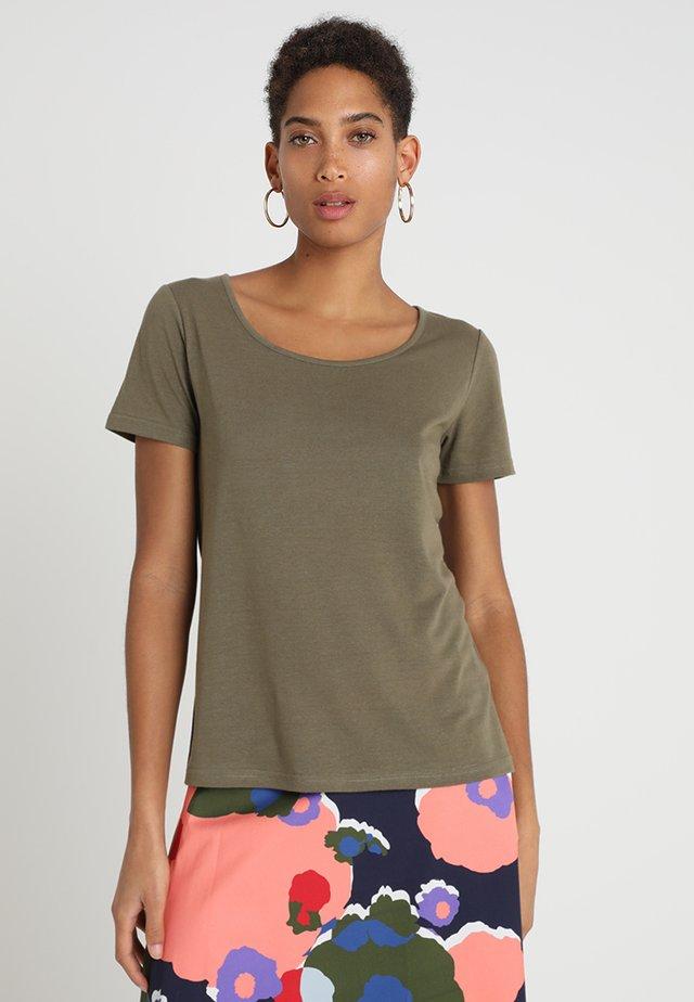 T-shirt basique - burnt olive