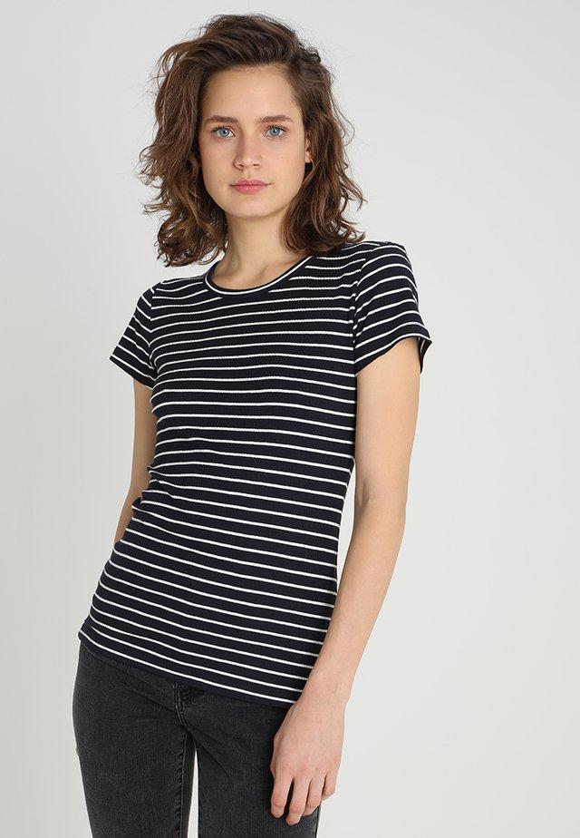 T-shirt imprimé - clouddancer/navy