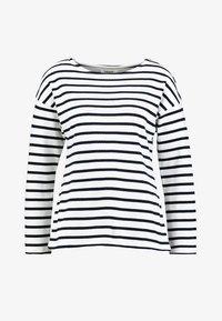 Zalando Essentials - T-shirt à manches longues - white/dark blue - 4