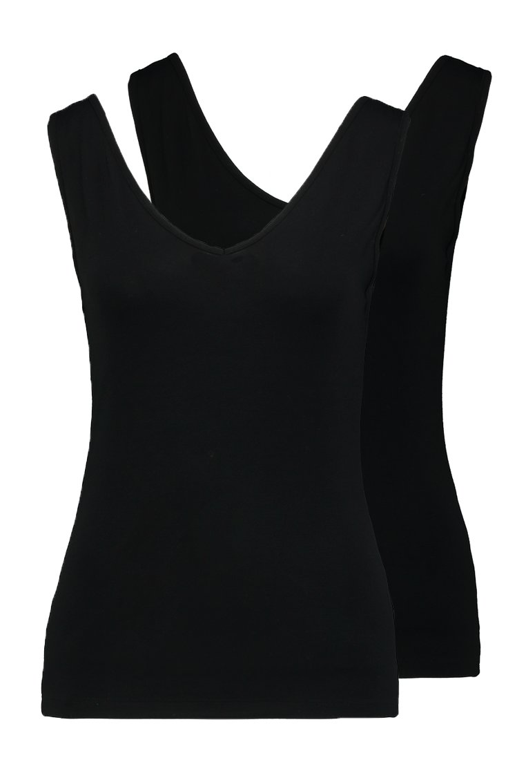 Zalando Essentials - 2 PACK - Top - black