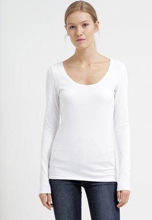 3 PACK - Maglietta a manica lunga - dark grey melange/black/white