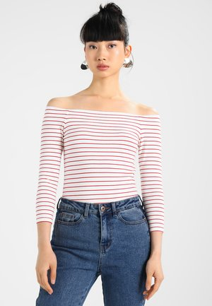 Camiseta de manga larga - white/red