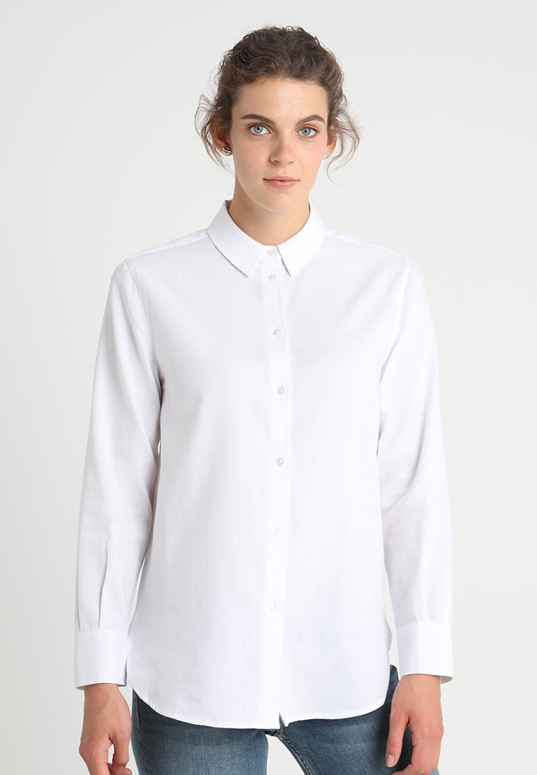 Zalando Essentials - Button-down blouse - white