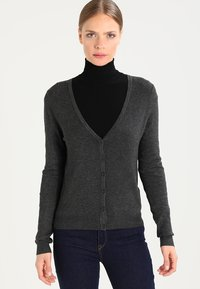 Zalando Essentials - Cardigan - dark grey mélange - 0