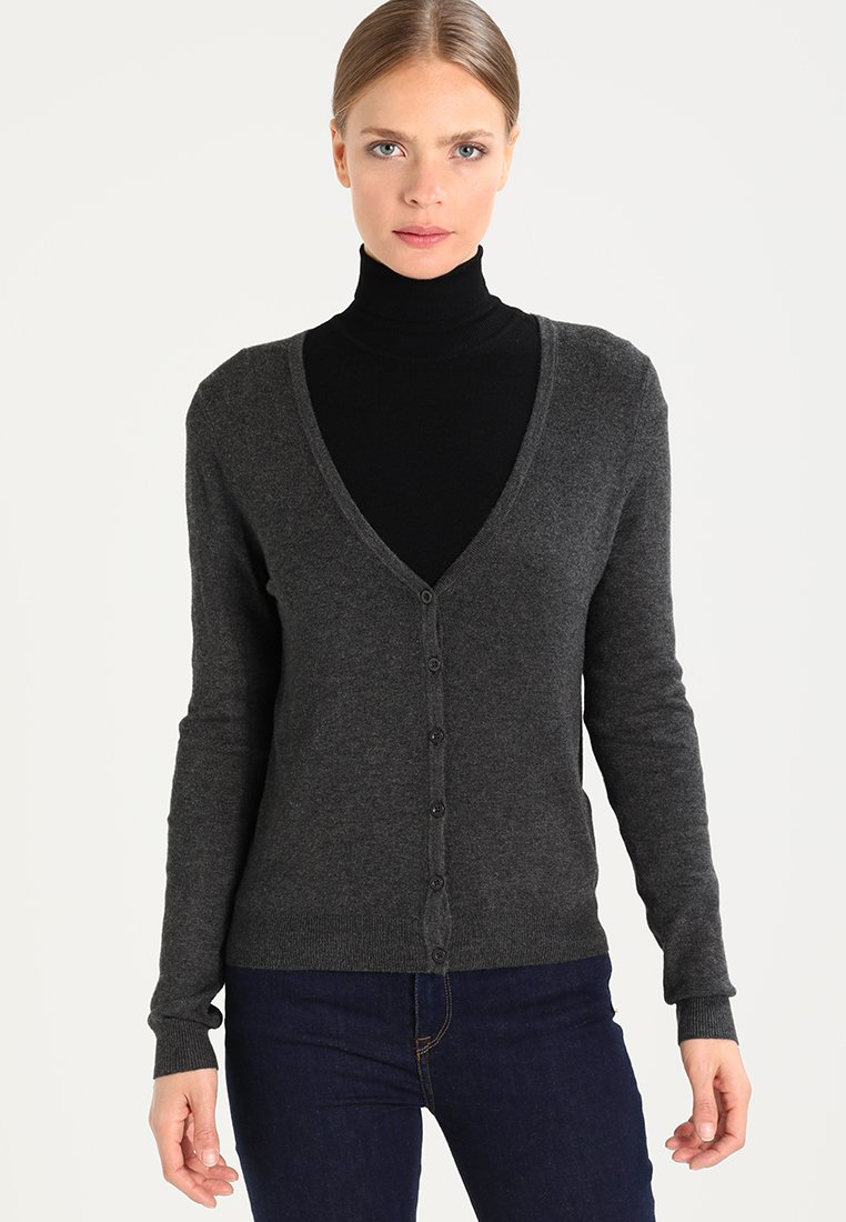 Zalando Essentials - Cardigan - dark grey mélange