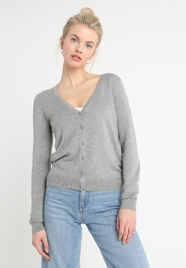 Zalando Essentials - Strickjacke - mottled light grey