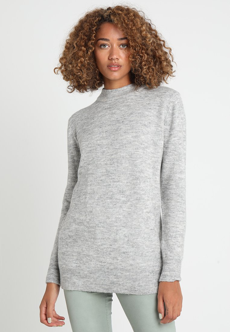 Zalando Essentials - Strickpullover - mid grey melange