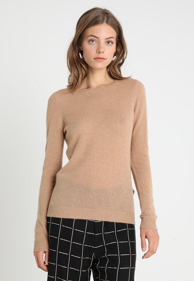 CASHMERE - Stickad tröja - camel