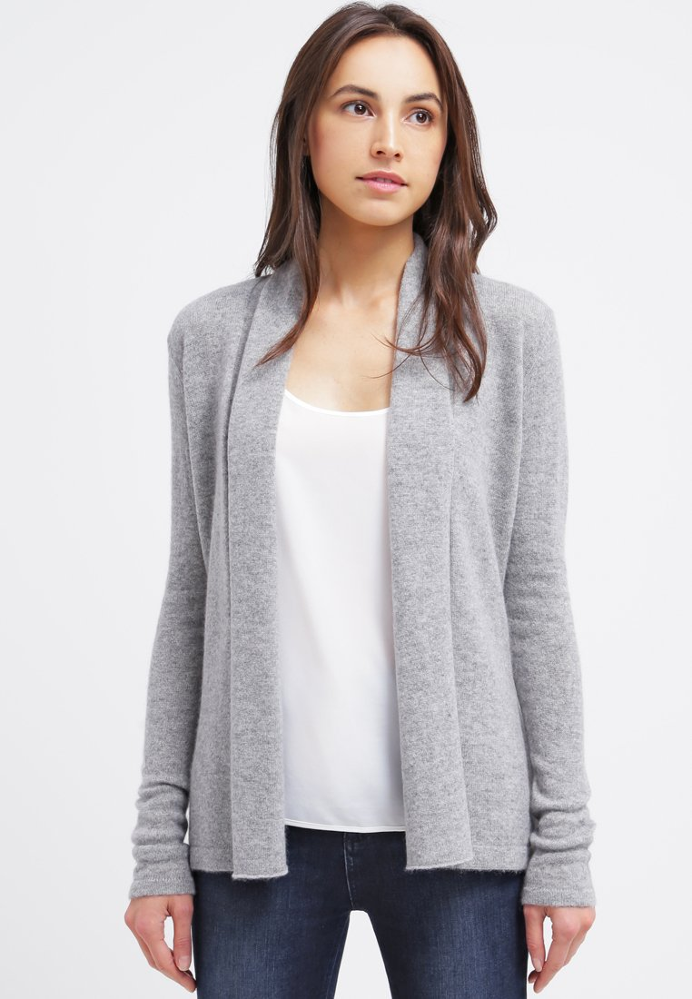 Zalando Essentials - CASHMERE - Chaqueta de punto - light grey melange