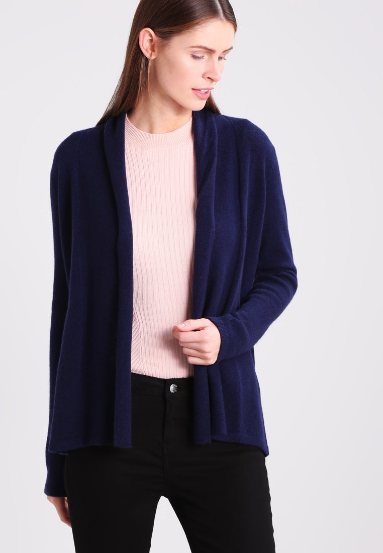 Zalando Essentials - CASHMERE - Strickjacke - dark blue