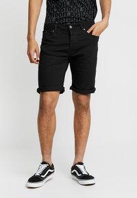 Zalando Essentials - Szorty jeansowe - black denim - 0