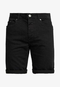 Zalando Essentials - Szorty jeansowe - black denim - 4