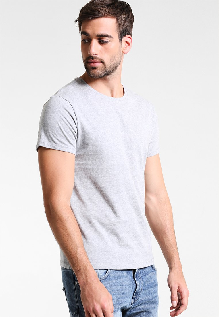 Zalando Essentials - 5 PACK - Basic T-shirt - mottled light grey