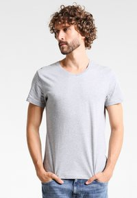 Zalando Essentials - 5 PACK - T-paita - mottled light grey - 1