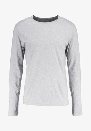 Top sdlouhým rukávem - mottled light grey