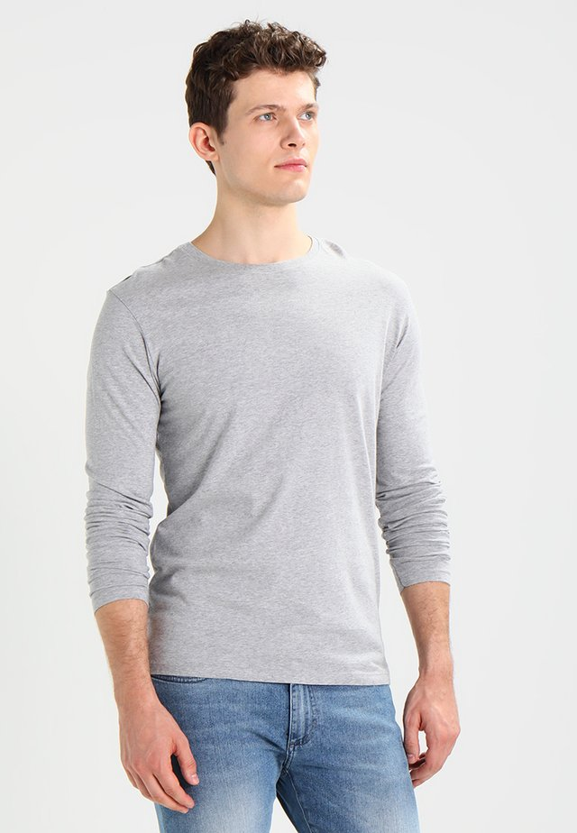Langærmede T-shirts - mottled light grey
