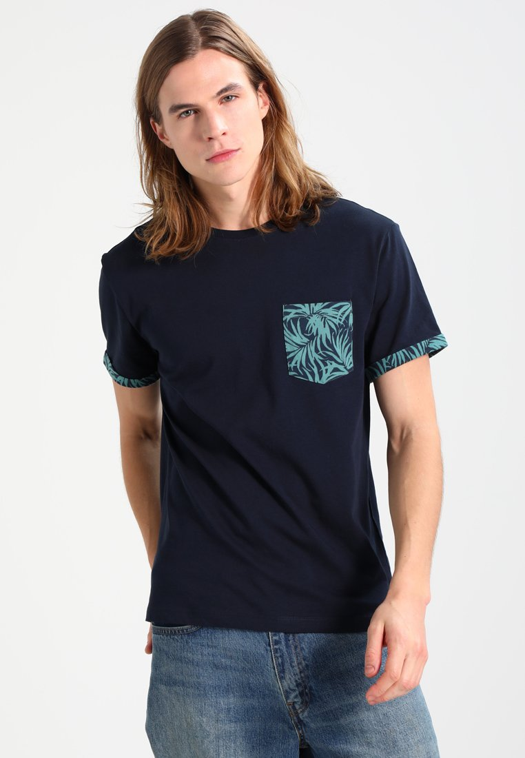 Zalando Essentials - T-shirt imprimé - dark blue