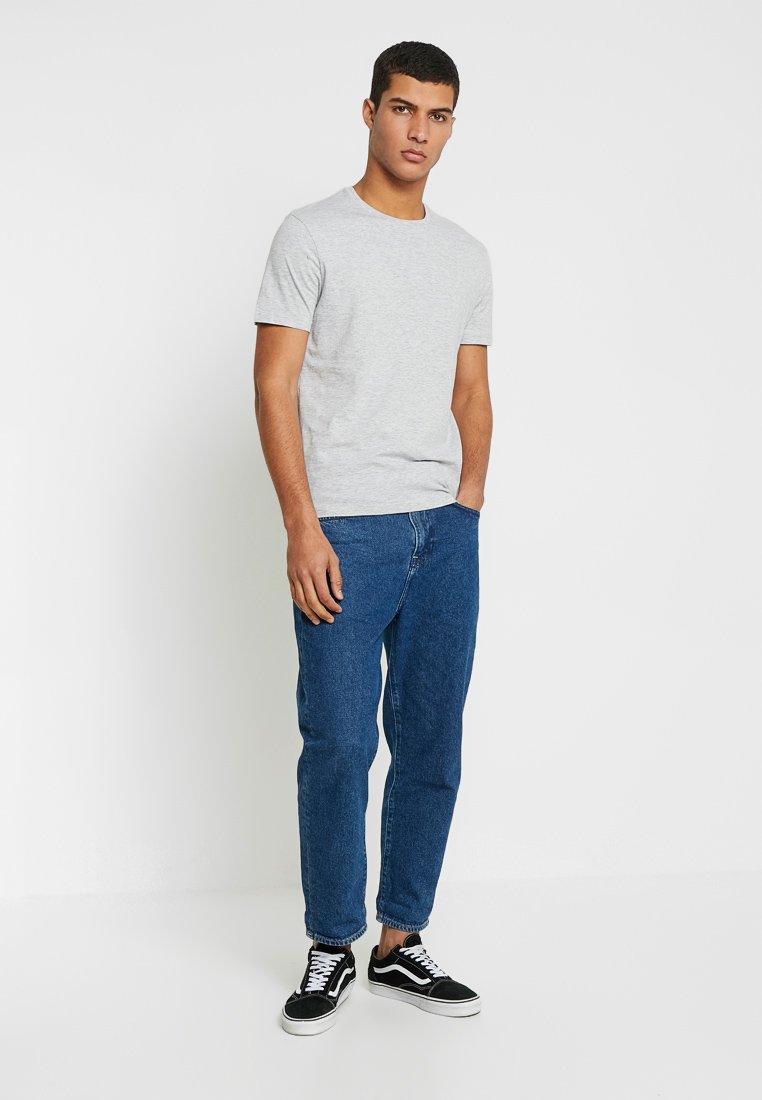 Zalando Essentials - 5 PACK - T-shirt basic - dark blue/grey/khaki