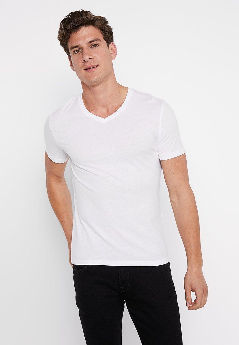 Zalando Essentials - 5 Pack - T-Shirt basic - grey/white/black