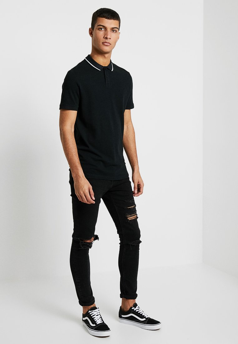 Zalando Essentials - 2 PACK - Polo shirt - black