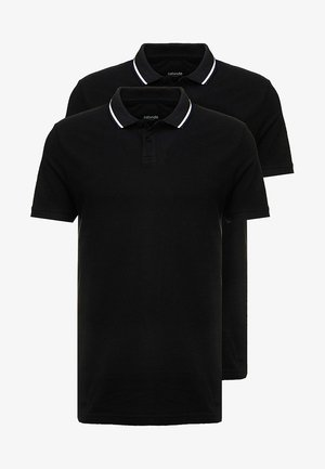 2 PACK - Poloshirt - black