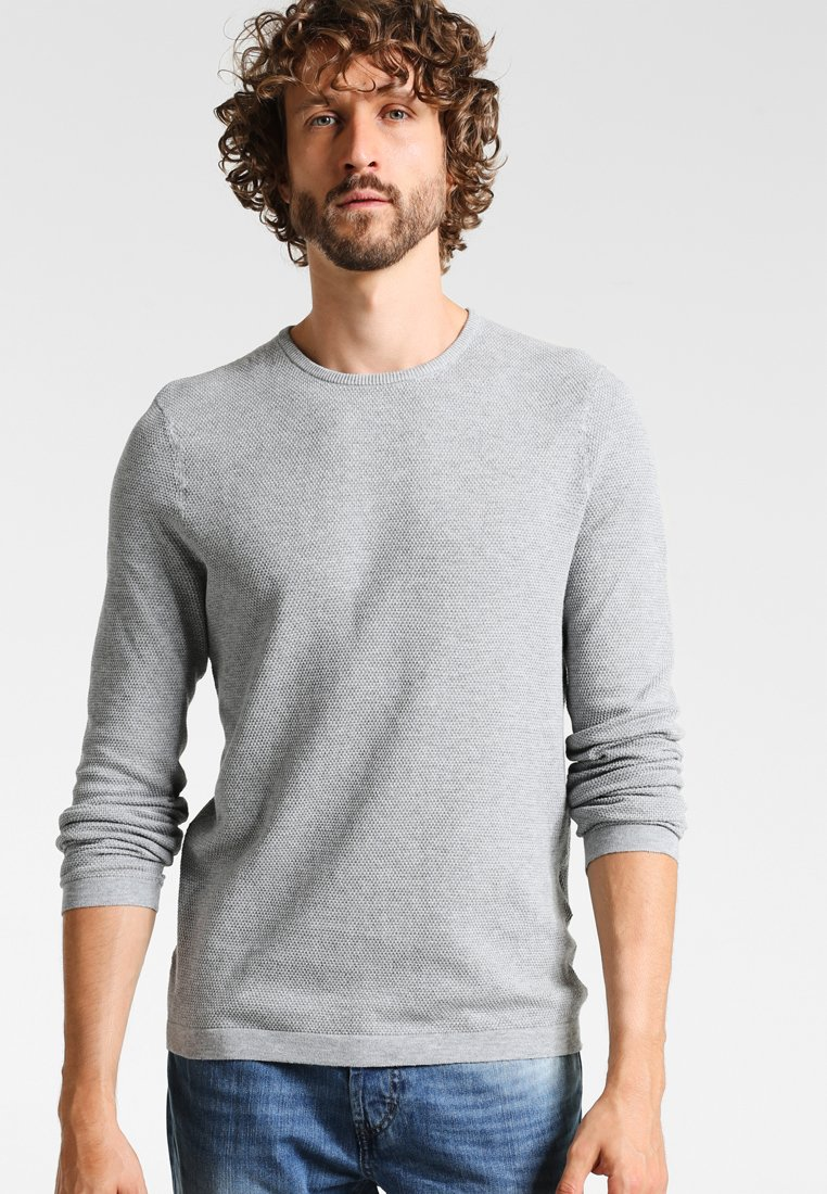 Zalando Essentials - Stickad tröja - light grey