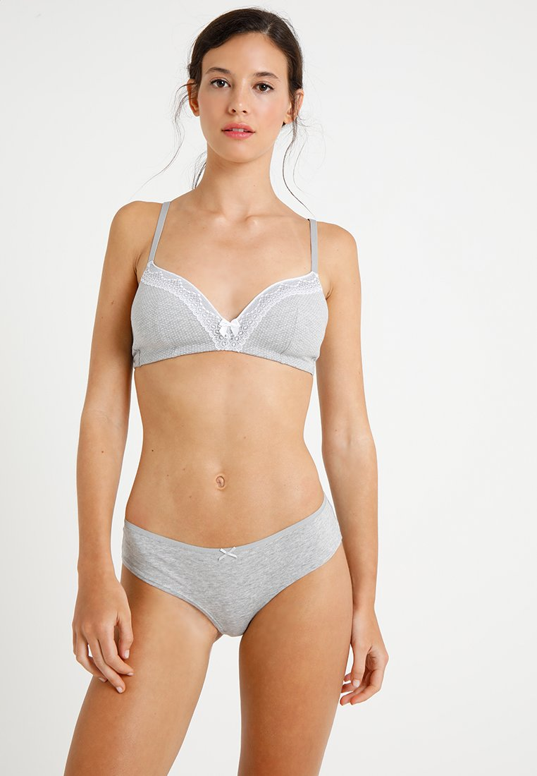 Zalando Essentials - 2 PACK - Triangle bra - grey/black