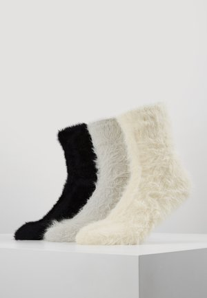 3 PACK - Calze - off-white/black/grey