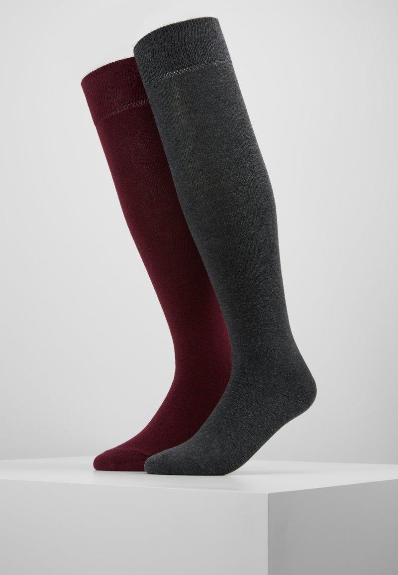 Zalando Essentials - 2 PACK - Calcetines por encima de la rodilla - grey