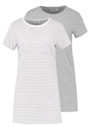 2 PACK - Koszula nocna - light grey/white