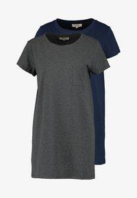 dark blue/mottled dark grey