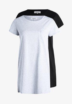 2 PACK - Noční košile - black/light grey