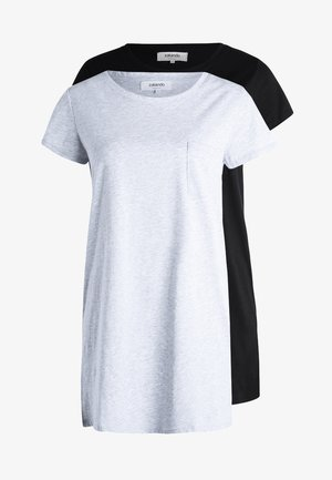 2 PACK - Negligé - black/light grey