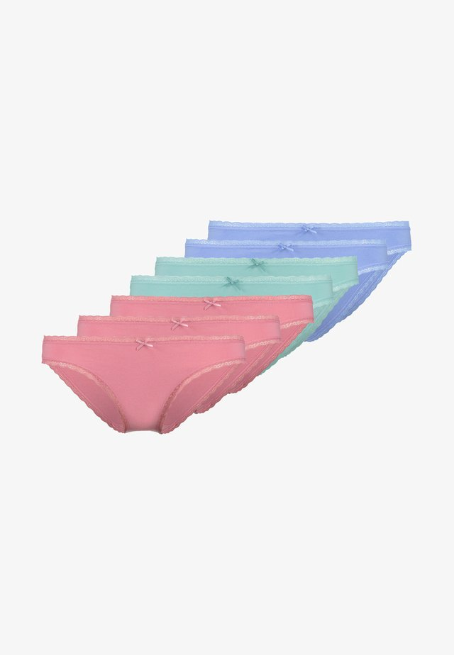 7 PACK - Slip - pink/royal blue/green